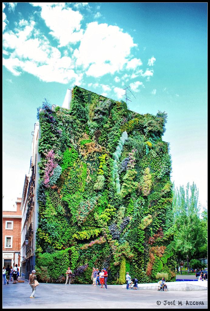 Madrid jard n vertical caixa forum el jardin vertical - El jardin vertical ...