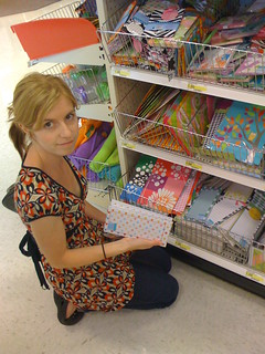 Mona organizing her items at Target's One Spot | by Alienate