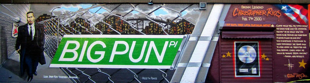 Big pun place big pun mural on 163rd street and rogers for Big pun mural bronx