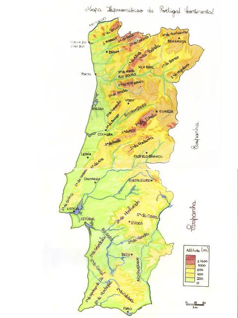 mapa hipsométrico de portugal Hipsométrico de Portugal | Mapa criado pelo Mário Jorge, alu… | Flickr mapa hipsométrico de portugal