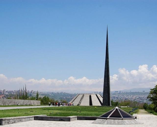 Tsitsernakaberd Armenian Genocide Memorial In 1965 On
