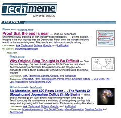 The ultimate -- TechMeme sees doom and gloom when it looks in the mirror! | by scriptingnews