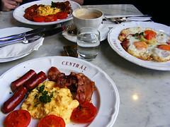 Central Cafe Budapest Menu