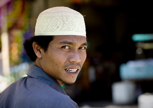 Muslim man, Borobudur, Java, Indonesia | by Eric Lafforgue