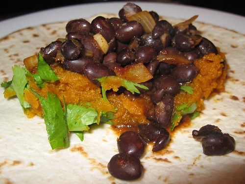 Pumpkin and Black Bean Burrito (Filling) | by Kevin - Closet Cooking