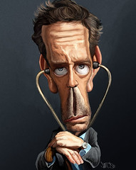 Dr. House MD Caricature Hugh Laurie | by caricaturas