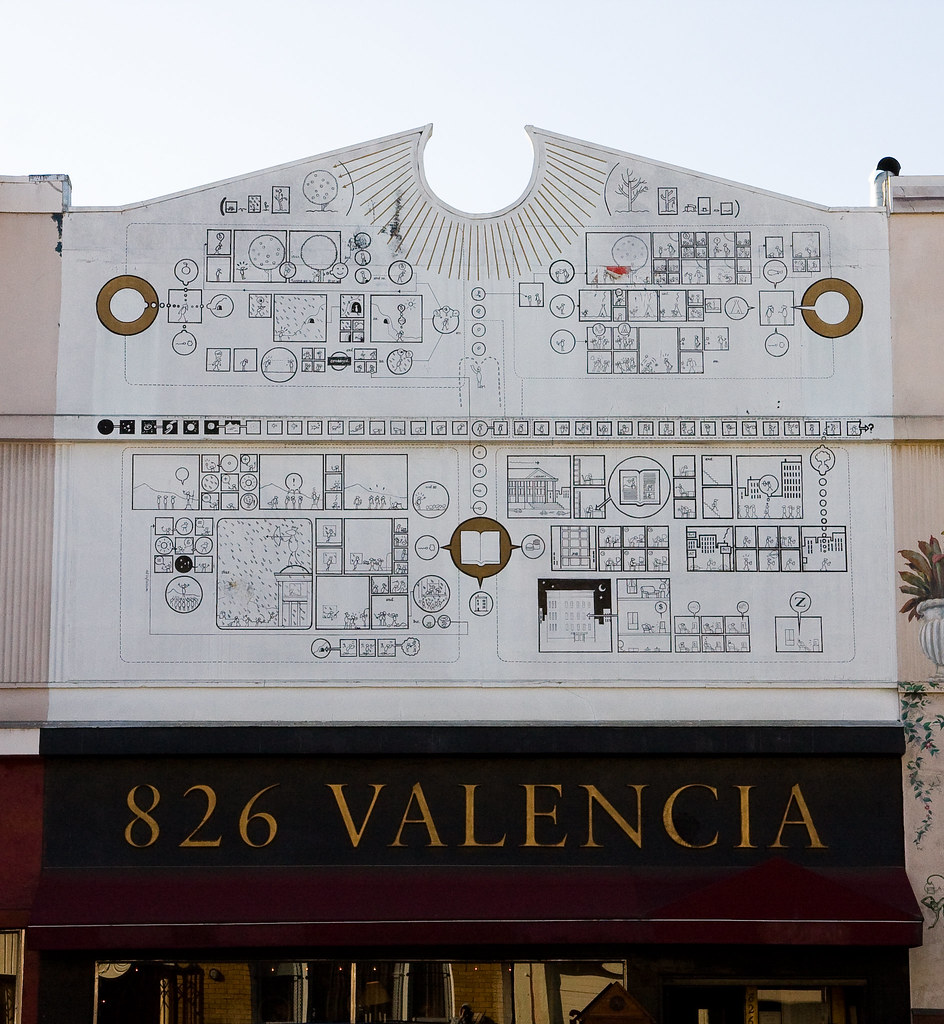 chris ware mural at 826 valencia one of my favorite