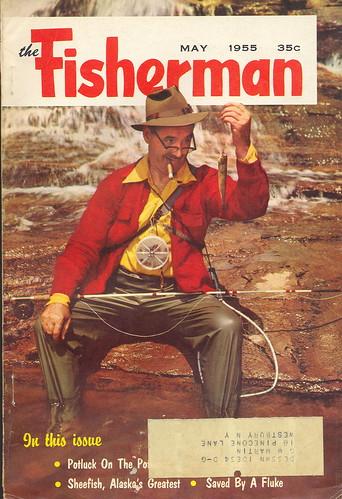 1955 the fisherman vintage fishing outdoorsman magazine for Free fishing magazines