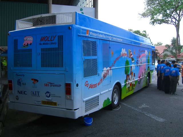 Molly Mobile Library Bus Back Profile Of Molly The