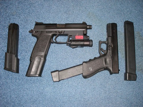 Hk and Glock with extended Clips   Matt   Flickr