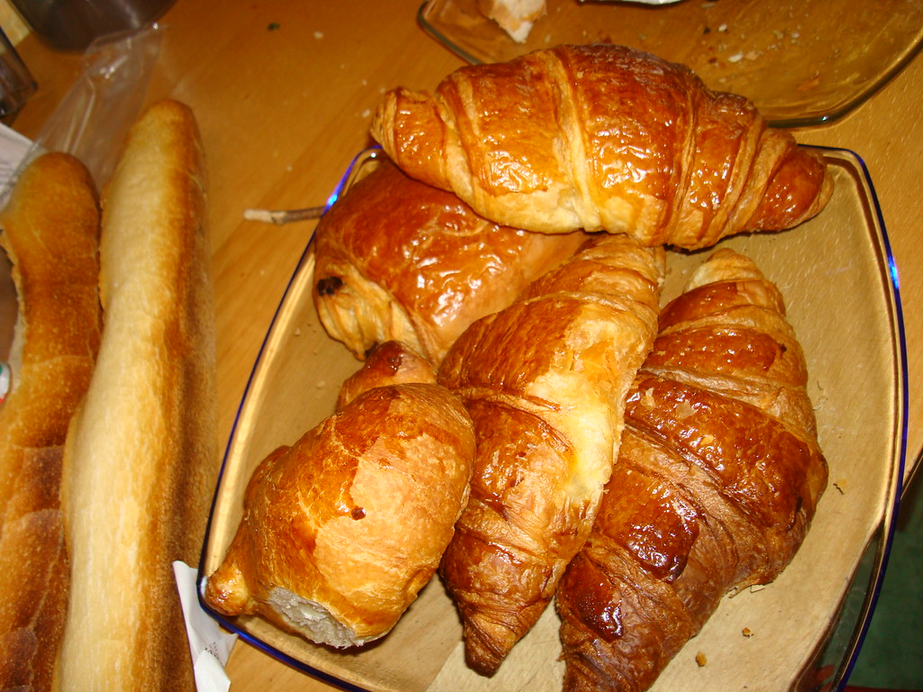 croissants for french breakfast not so bad life here. Black Bedroom Furniture Sets. Home Design Ideas