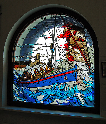 Stained Glass, Cromer Lifeboat Station, Cromer, Norfolk 03/05/2008 | by Gary S. Crutchley