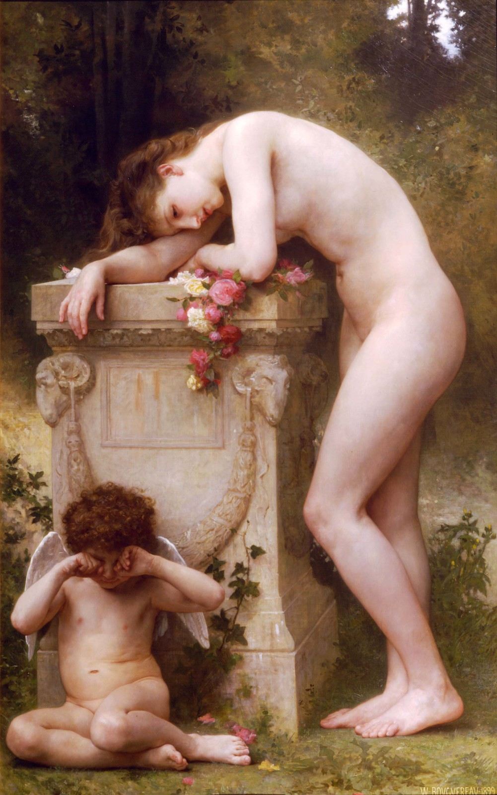 William-Adolphe Bouguereau, Douleur d'amour, Elegy, 1899