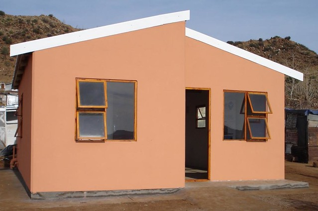 Low cost housing moladi low cost housing built in south for Low cost house plans with estimate