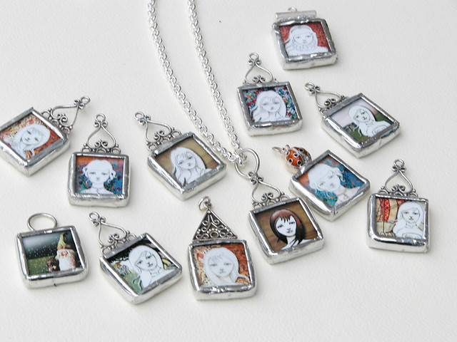 Soldered glass pendant necklaces these soldered pendants d flickr soldered glass pendant necklaces by imwithsully soldered glass pendant necklaces by imwithsully aloadofball Images