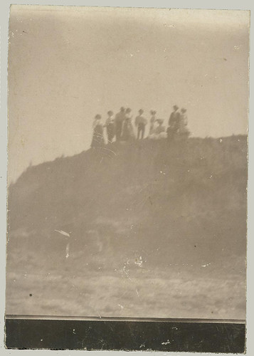 Group on a  hill