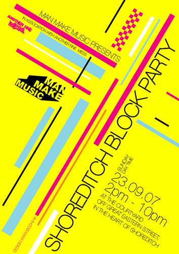 Block Party flyer front | Man Make Music | Flickr