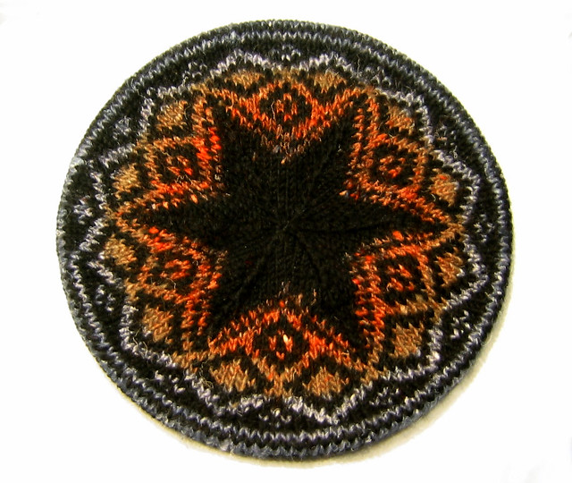 2008: My first ever stranded knitting, from 'Three Tams' pattern by Angela Sixian Wu