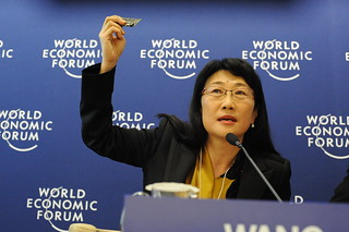 HTC Chairwoman, Cher Wang, shows off new mobile phone mother board | by Robert Scoble