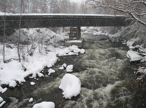 Snowy Railroads and River | by LadyofProcrastination