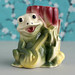 Vintage Frog Playing a Banjo Vase