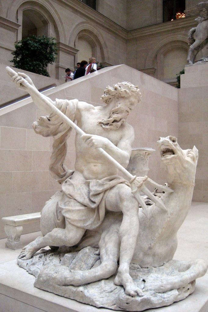 Paris - Musée du Louvre: Neptune | Neptune, is one of four ...