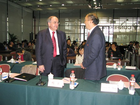 President Yang and President McRobbie | by Indiana Public Media