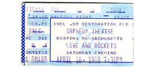 Love & Rockets + Pixies + The Bubble Men  April 16, 1988 | by Howdy, I'm H. Michael Karshis