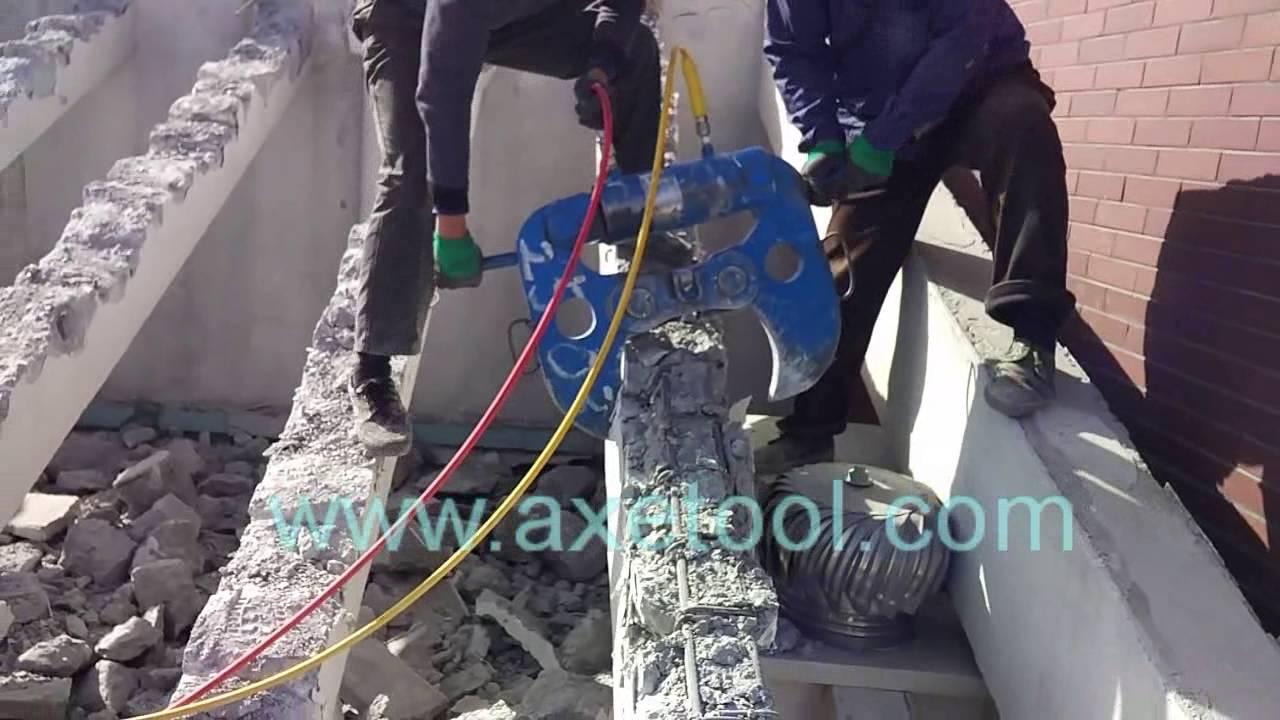 chothuemaykhoan.com - cắt bê tông bằng kìm cắt thủy lực