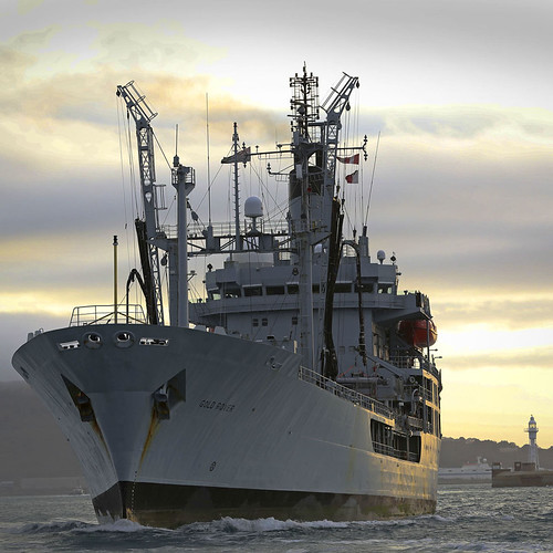 After 43 years supporting Royal Navy RFA Gold Rover departs Portland for the final time.