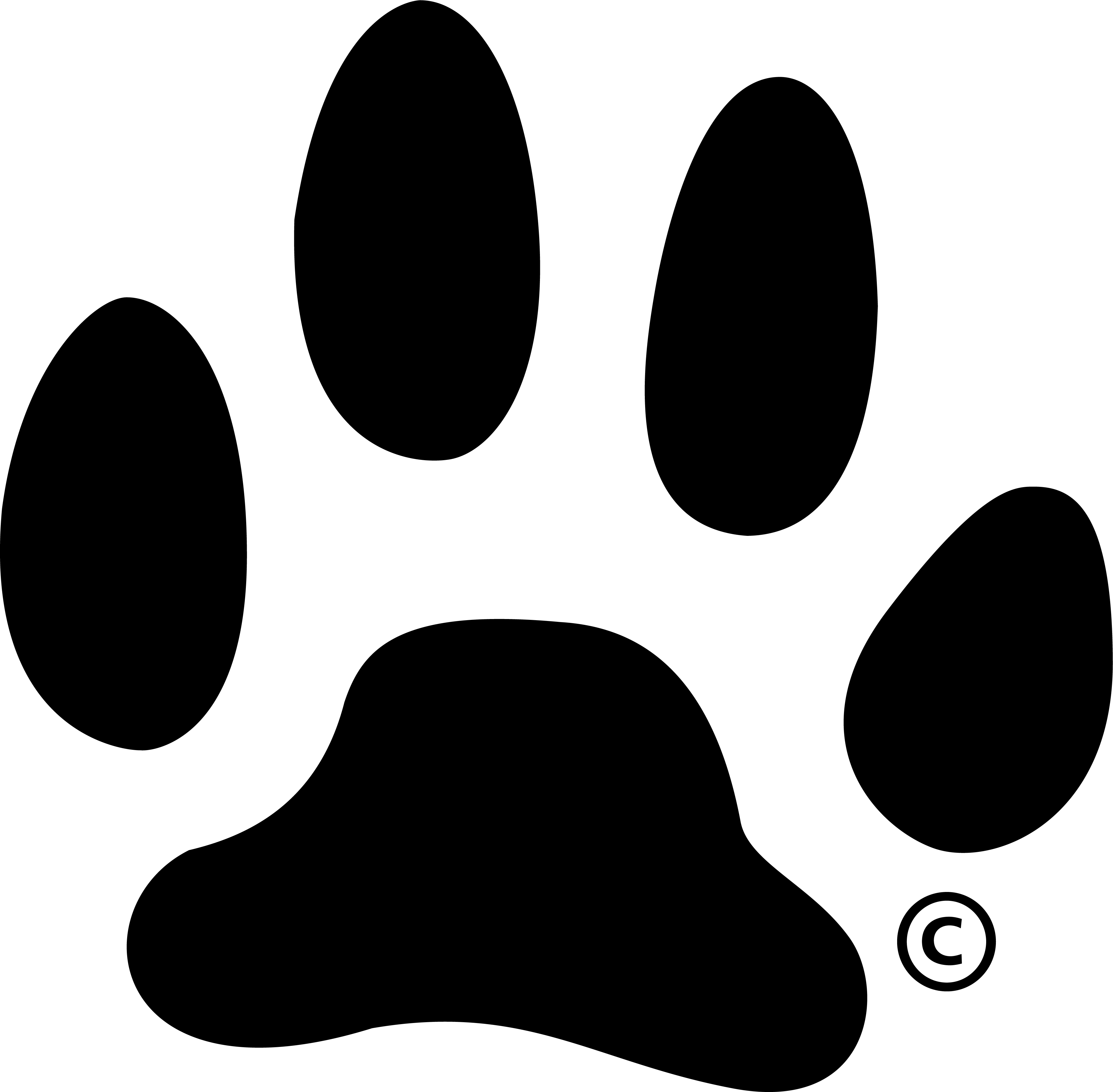 Black paw print logo company clipart vector labs our logos barton community college rh bartonccc edu thecheapjerseys Images