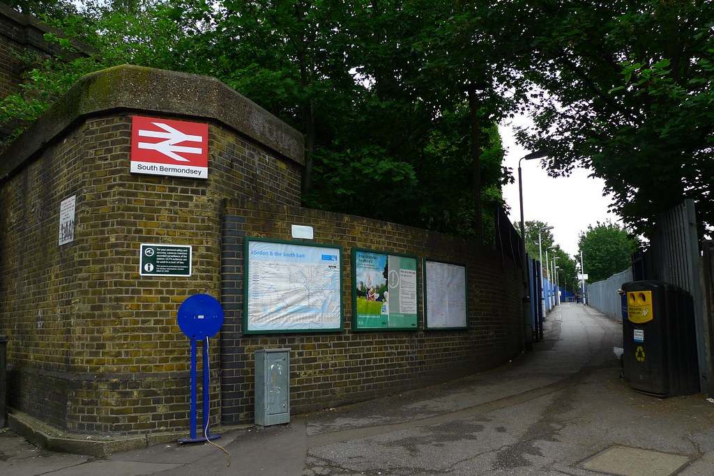 South Bermondsey station | There's a huge long walkway up ...