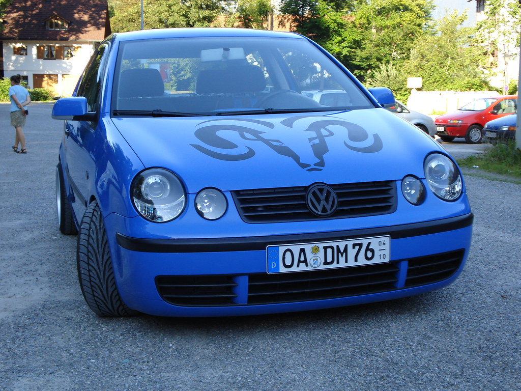 vw polo 9n tuning summerblue 01 front nderungen. Black Bedroom Furniture Sets. Home Design Ideas