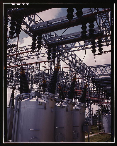 Switchyard at TVA's Wilson Dam hydroelectric plant, vicinity of Sheffield, Ala., 260 miles above the mouth of the Tennessee River  (LOC) | by The Library of Congress