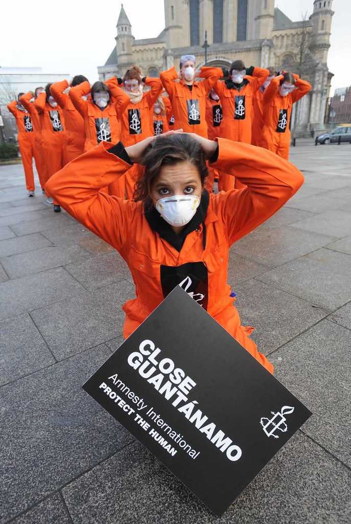 Guantanamo Bay Amnesty Protest 7 Belfast 11 1 2008