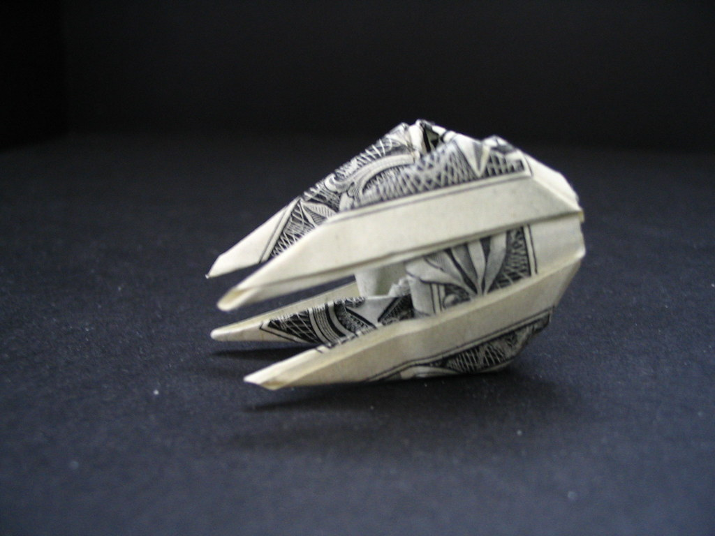 Dollar Origami Star Wars Tie Interceptor | A clean up of ... - photo#49