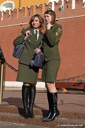 Posing in front of the Kremlin
