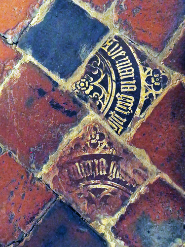 The tiled floor of England's Gloucester Cathedral