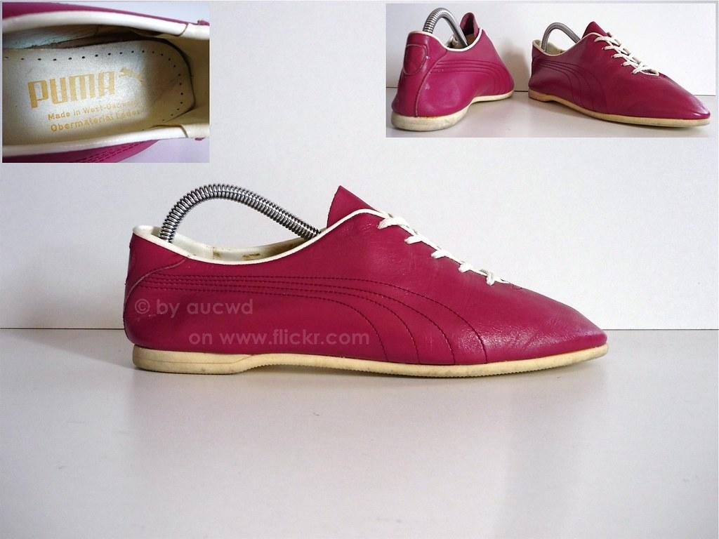 70 s 80 s vintage pink puma shoes made in west germany flickr. Black Bedroom Furniture Sets. Home Design Ideas