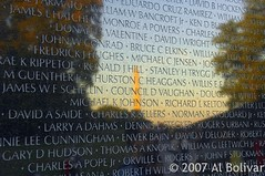 Monument reflection off Vietnam Memorial | by albolivarphoto