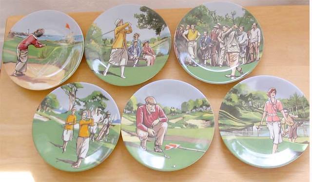 Philippe deshoulieres canape plates 6 golf motif flickr for Philippe deshoulieres canape plates