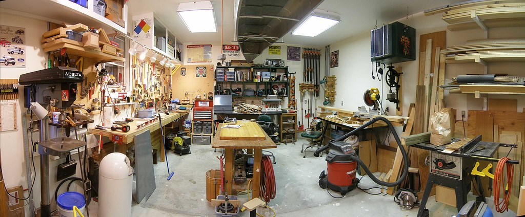 Woodworking Shop Panarama You Can Call It The Shop Or
