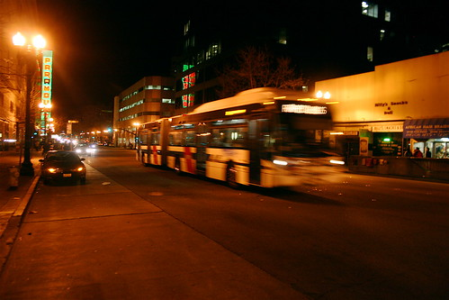Southbound AC Transit bus along Broadway | by allaboutgeorge