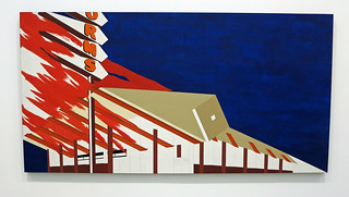 Norm's, La Cienega, on Fire - Edward Ruscha (3499)