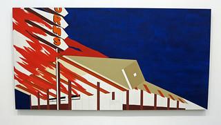 Norm's, La Cienega, on Fire - Edward Ruscha (3499)
