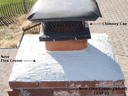 Fairfax Virginia Chimney Crown Repair After Chinney