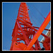 Orange crane & blue sky