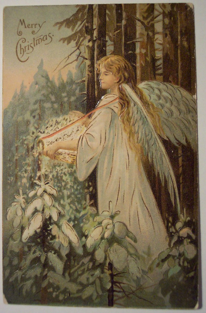 Vintage Christmas Postcard Angel Dave Flickr
