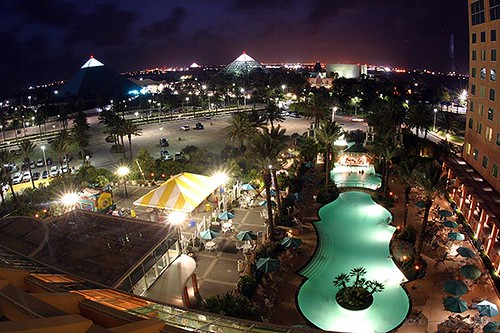 Houston Moody Gardens Night View From Moody Gardens