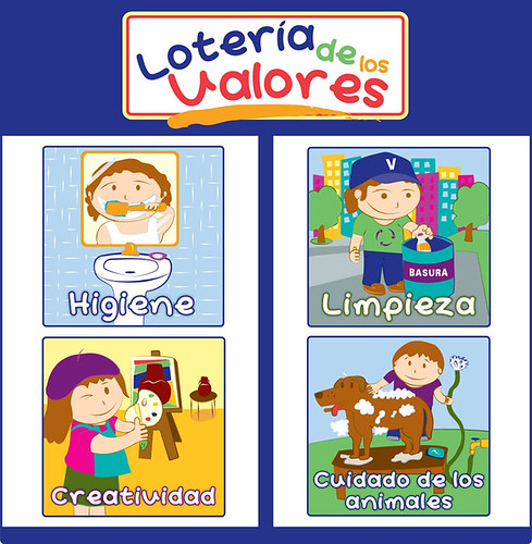Loteria de valores para niños de preescolar - Imagui